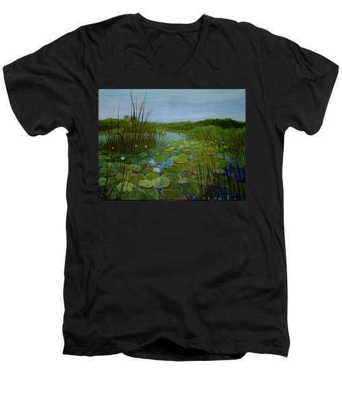 Botswana Lagoon Men's V-Neck T-Shirt