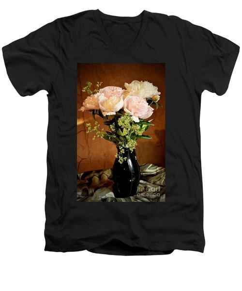 Bouquet Of Peonies Men's V-Neck T-Shirt