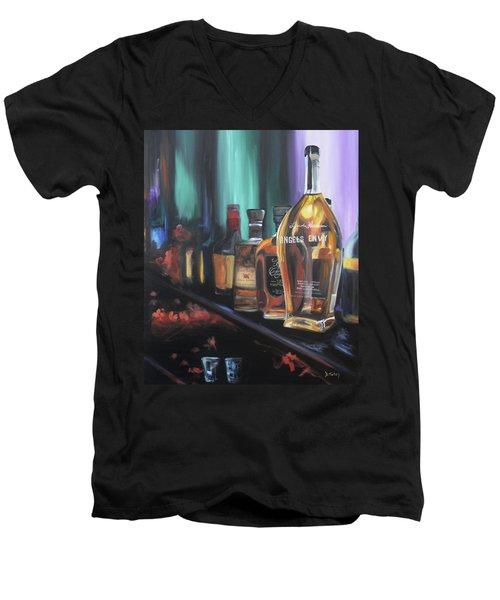 Bourbon Bar Oil Painting Men's V-Neck T-Shirt