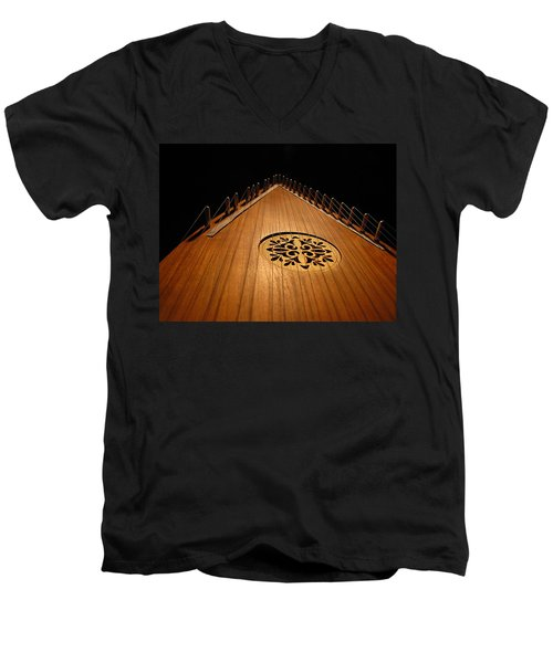Men's V-Neck T-Shirt featuring the photograph Bowed Psaltery by Greg Simmons