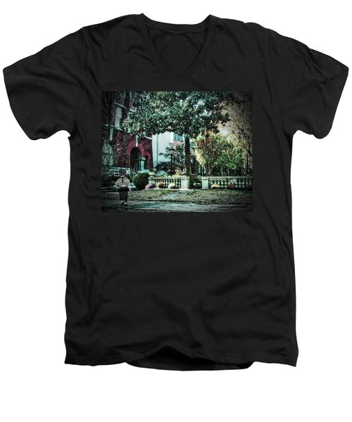 Boy Lost In Time Men's V-Neck T-Shirt