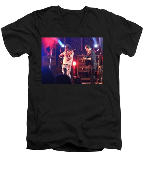 Men's V-Neck T-Shirt featuring the photograph Boyd And Dave by Aaron Martens