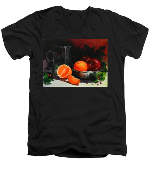 Breakfast Fruits Men's V-Neck T-Shirt