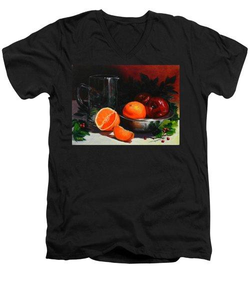 Breakfast Fruits, Peru Impression Men's V-Neck T-Shirt
