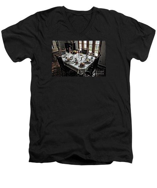 Downton Abbey Breakfast Men's V-Neck T-Shirt by The Art of Alice Terrill