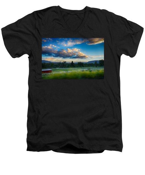 Breathtaking Colorado Sunset 1 Men's V-Neck T-Shirt