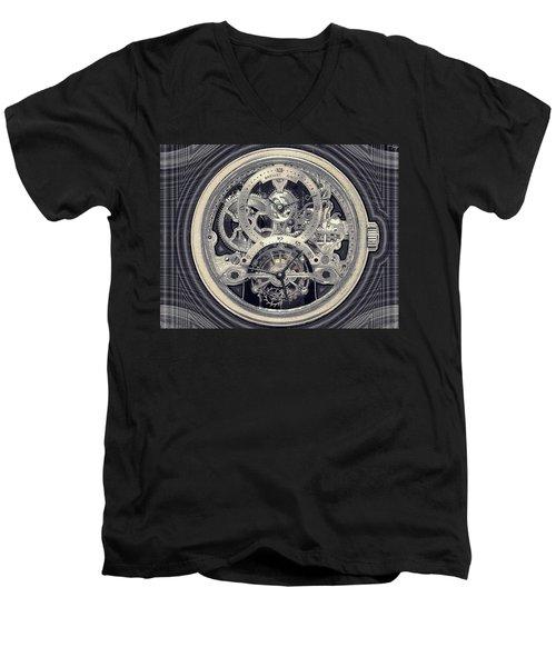 Breguet Skeleton Men's V-Neck T-Shirt
