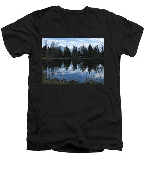 Brewster Lake North Bend Wa Men's V-Neck T-Shirt
