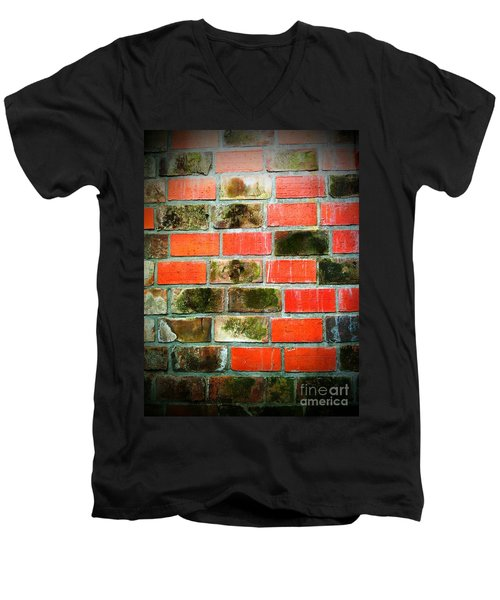 Brick Wall Men's V-Neck T-Shirt