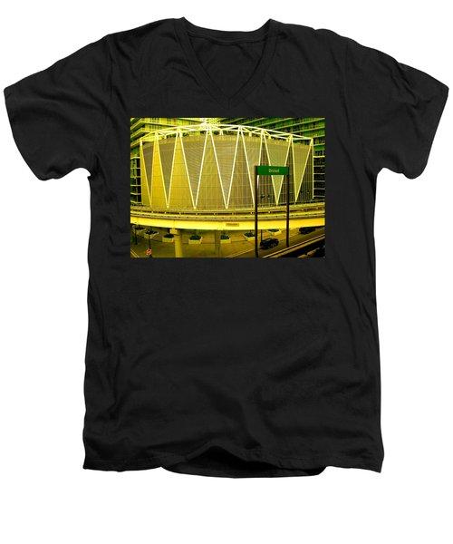Brickell Station In Miami Men's V-Neck T-Shirt