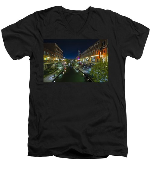 Bricktown Canal Men's V-Neck T-Shirt