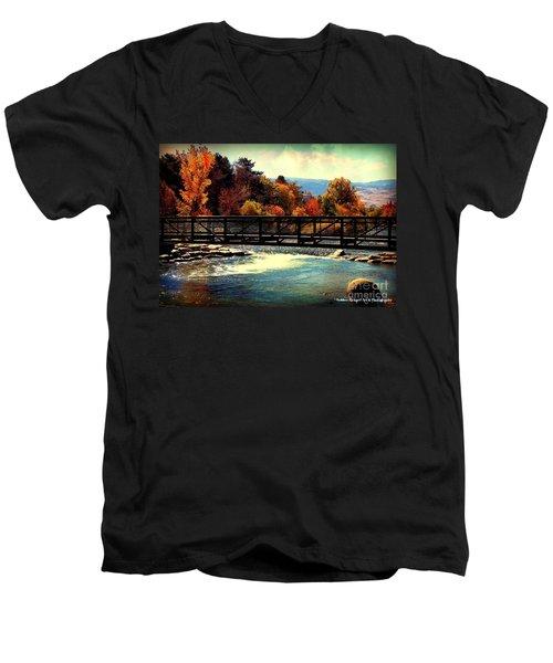 Bridge Over The Truckee River Men's V-Neck T-Shirt