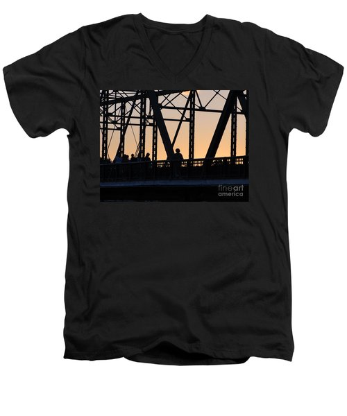 Bridge Scenes August - 2 Men's V-Neck T-Shirt
