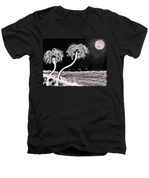 Bright Night In The Tropics Men's V-Neck T-Shirt