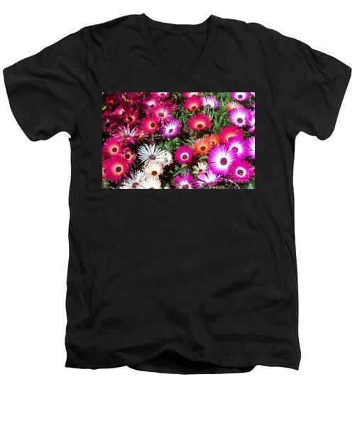 Brilliant Flowers Men's V-Neck T-Shirt by Chalet Roome-Rigdon