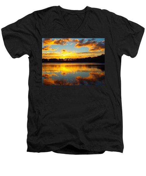 Brilliant Sunrise Men's V-Neck T-Shirt by Dianne Cowen