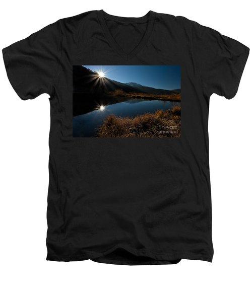 Brilliant Sunrise Men's V-Neck T-Shirt by Steven Reed