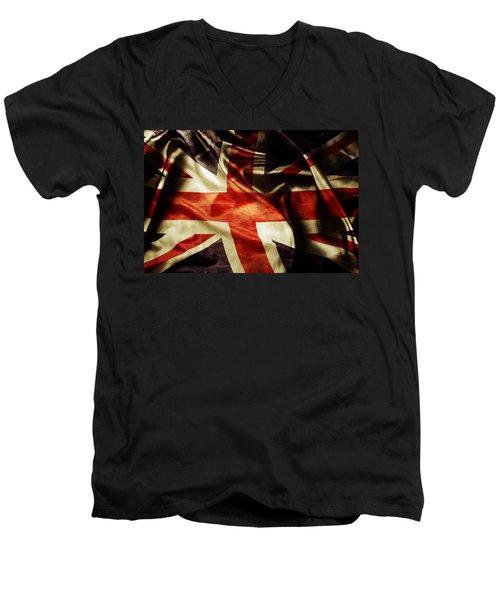 British Flag 1 Men's V-Neck T-Shirt