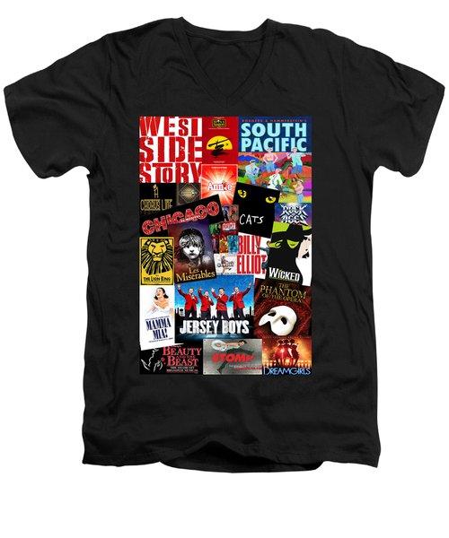 Broadway 1 Men's V-Neck T-Shirt