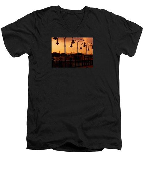 Broadway Junction In Brooklyn, New York Men's V-Neck T-Shirt