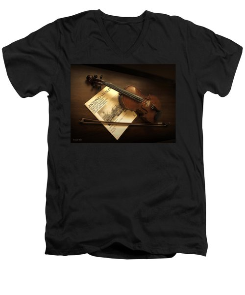 Men's V-Neck T-Shirt featuring the photograph Broken A by Lucinda Walter