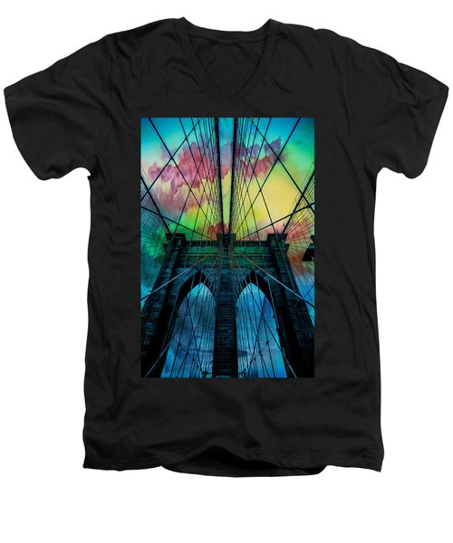Psychedelic Skies Men's V-Neck T-Shirt