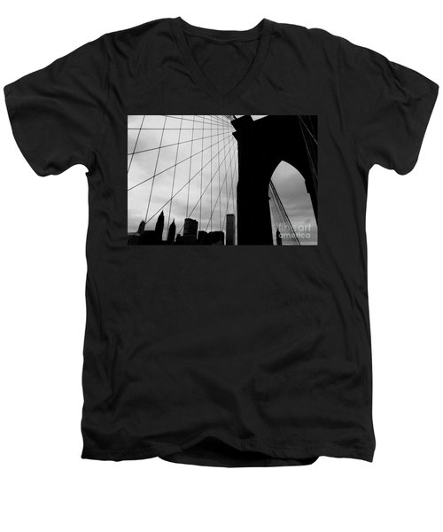 Brooklyn Bridge No.2 Men's V-Neck T-Shirt
