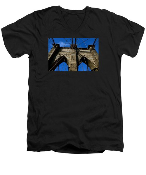 Brooklyn Bridge Ny Men's V-Neck T-Shirt