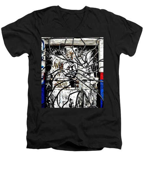 Broome Street Found Art Nyc Men's V-Neck T-Shirt