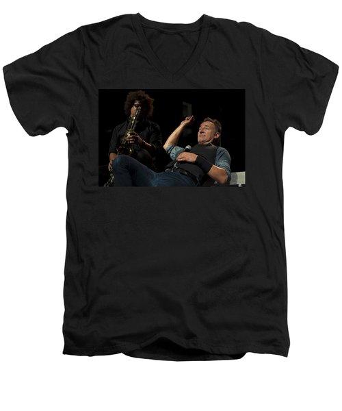 Bruce And Jake At Greasy Lake Men's V-Neck T-Shirt