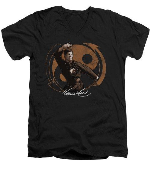 Bruce Lee - Jeet Kun Do Pose Men's V-Neck T-Shirt by Brand A
