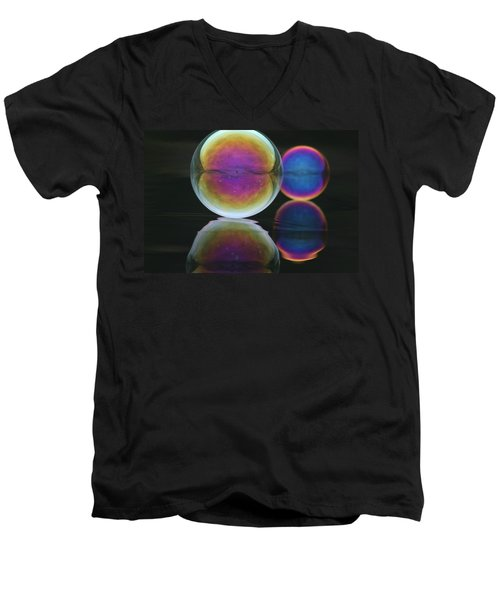 Bubble Spectacular Men's V-Neck T-Shirt by Cathie Douglas