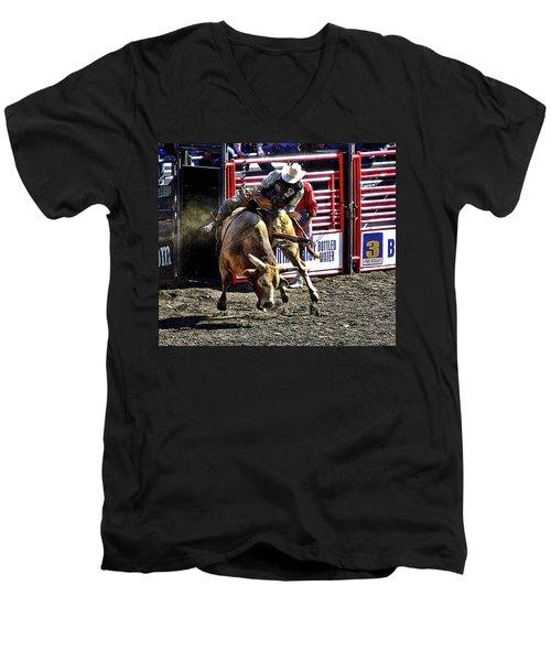 Buckin Bull Men's V-Neck T-Shirt