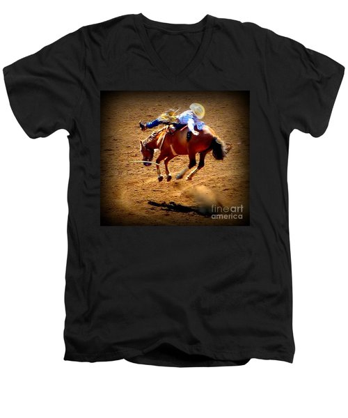 Bucking Broncos Rodeo Time Men's V-Neck T-Shirt