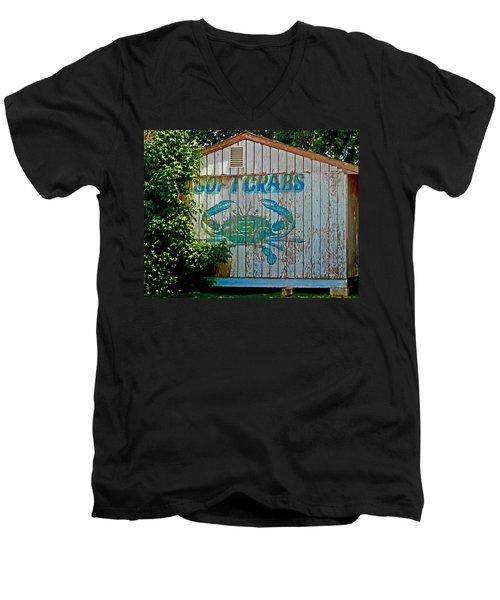 Buckroe Crab Shack Men's V-Neck T-Shirt