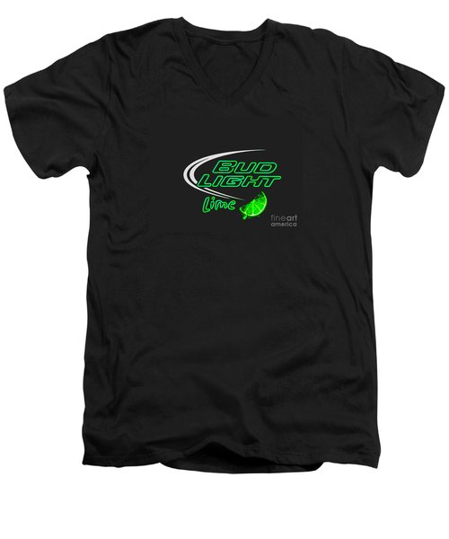 Bud Light Lime 2 Men's V-Neck T-Shirt