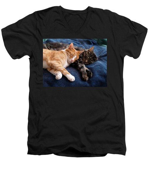 Buddies For Life Men's V-Neck T-Shirt