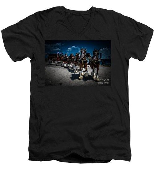 Budweiser Clydesdales Men's V-Neck T-Shirt