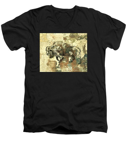 Buffalo 7 Men's V-Neck T-Shirt by Larry Campbell