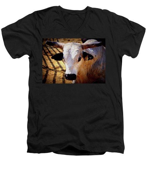 Bull Riders - Nightmare - Rodeo Bull Men's V-Neck T-Shirt