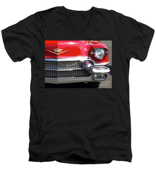 Bullet Bumpers - 1956 Cadillac Men's V-Neck T-Shirt