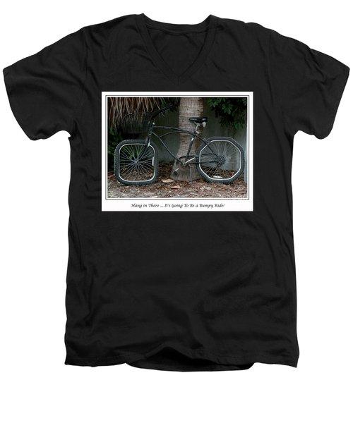 Bumpy Ride Men's V-Neck T-Shirt by Mariarosa Rockefeller