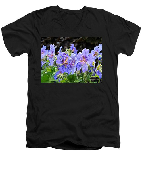 Bunches Men's V-Neck T-Shirt by Clare Bevan