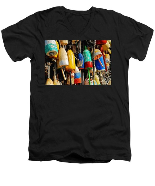 Buoys From Russell's Lobsters Men's V-Neck T-Shirt