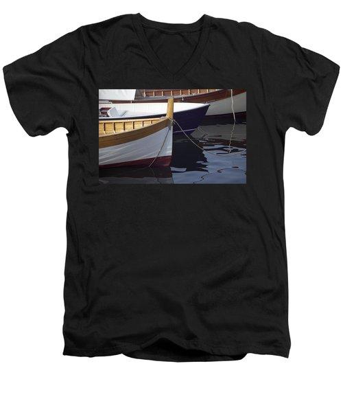 Burgundy Boat Men's V-Neck T-Shirt