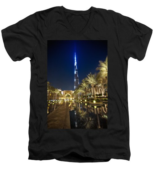 Burj Khalifa Swoard Men's V-Neck T-Shirt by John Swartz