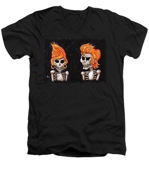 Burnin' Love 4 Ever Men's V-Neck T-Shirt