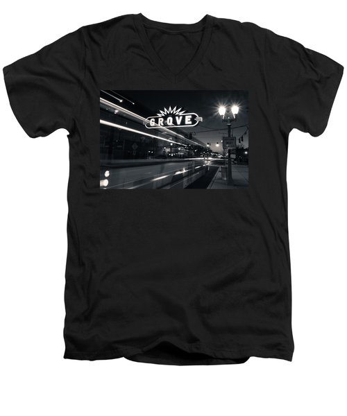 Bus Stop Men's V-Neck T-Shirt by Scott Rackers