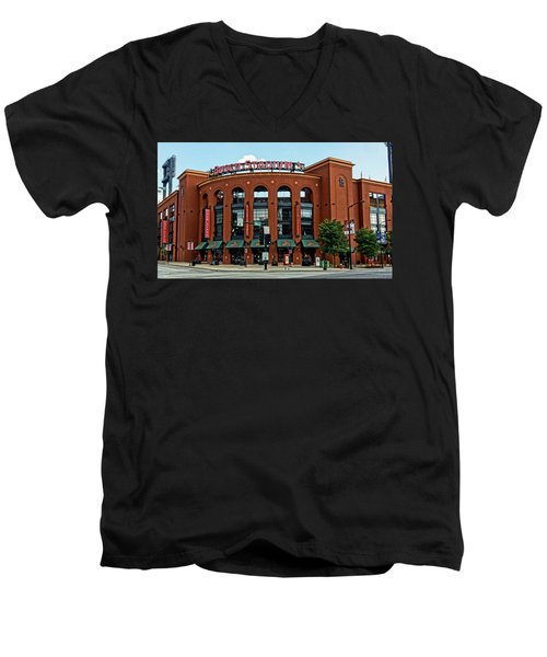 Busch Stadium Home Of The St Louis Cardinals Men's V-Neck T-Shirt