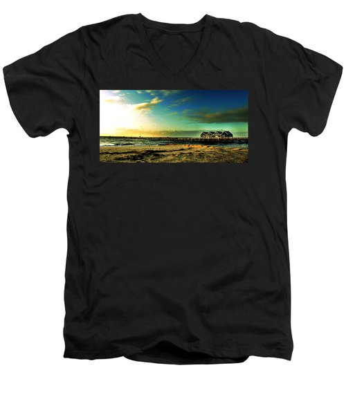 Men's V-Neck T-Shirt featuring the photograph Busselton Jetty by Yew Kwang